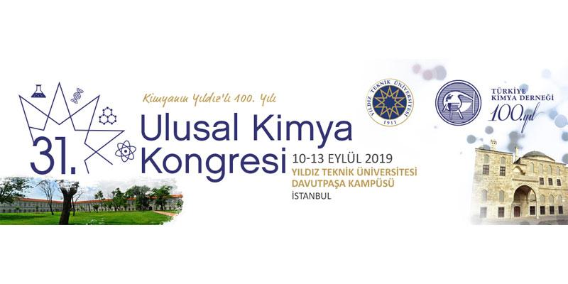 31. Ulusal Kimya Kongresi'nden izlenimler