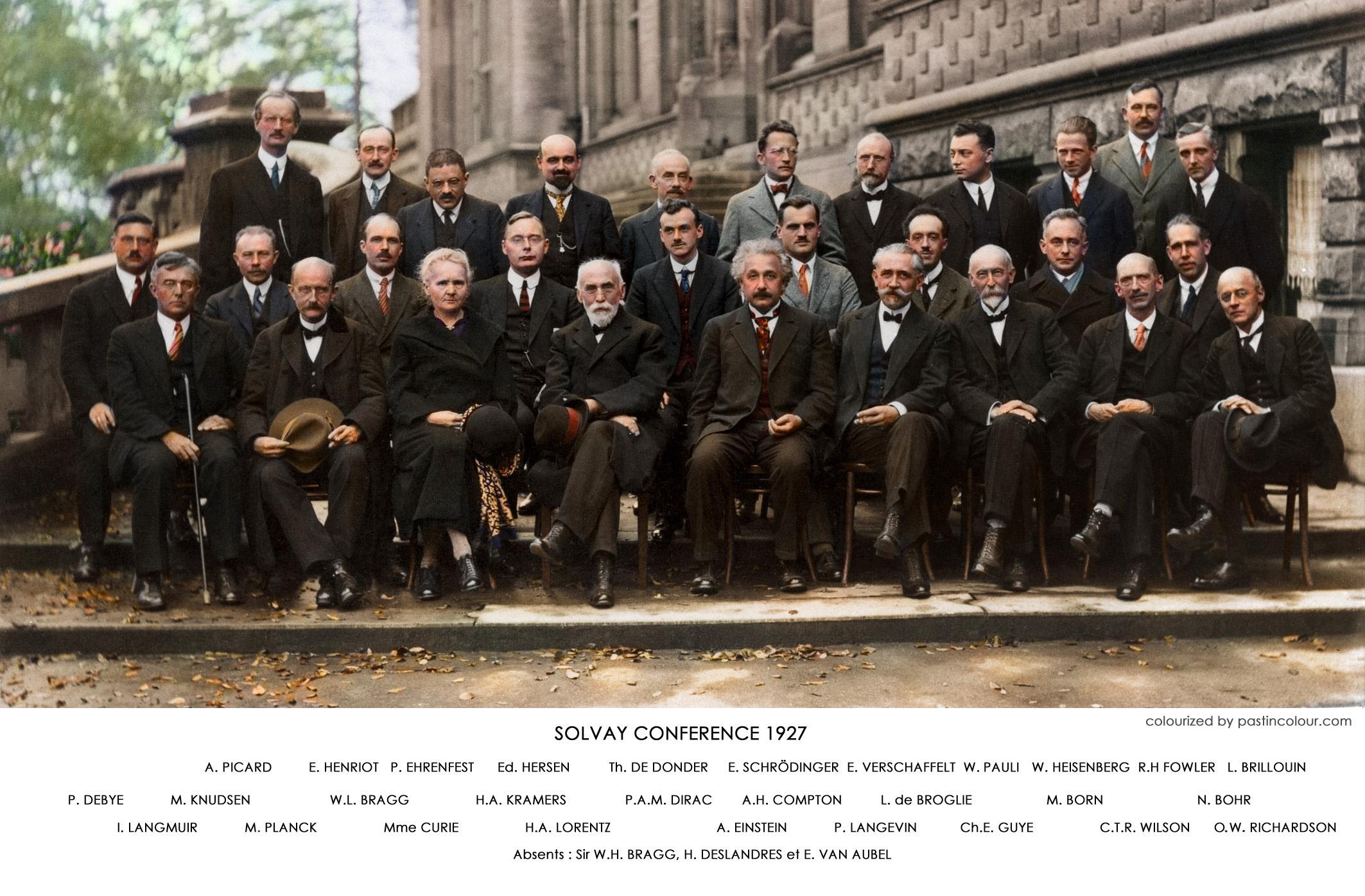 29 efsane bilim insanı tek fotoğrafta, hem de renkli!