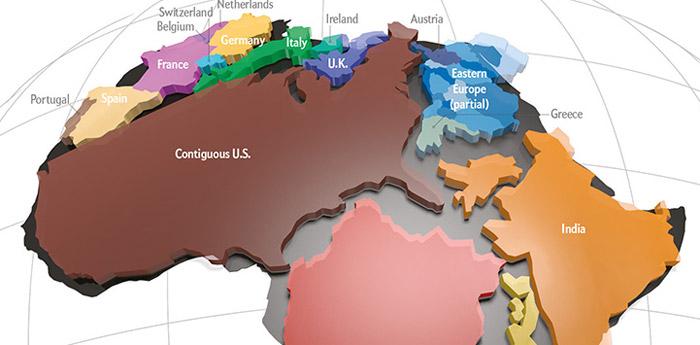 Afrika düşündüğünüzden daha büyük!