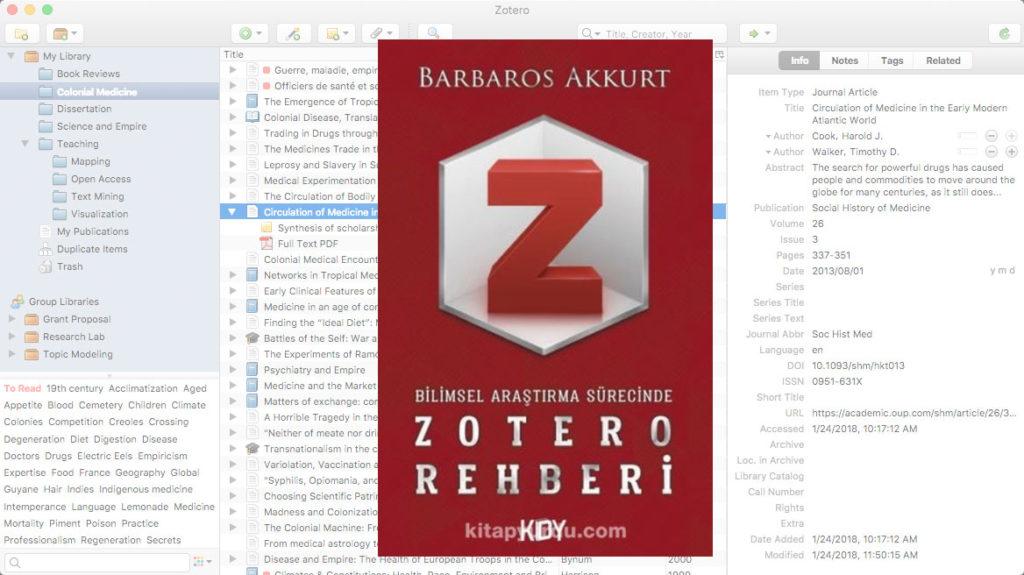 Bilimsel Araştırma Sürecinde Zotero Rehberi (Barbaros Akkurt)