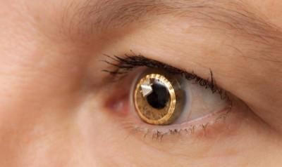 Büyütme sağlayan kontakt lens