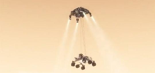 Curiosity Mars'a nasıl inecek?