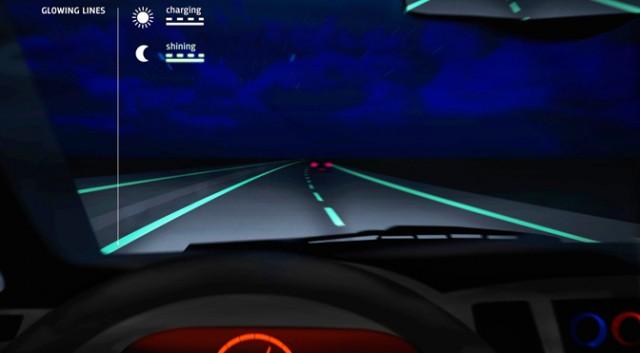 Hollanda'da karanlıkta parlayan yollar ile para ve enerji tasarrufu