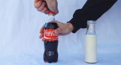 Kola ve süt arasındaki garip kimyasal reaksiyon