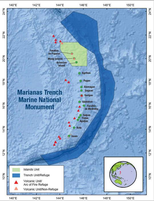 Mariana Çukuru ve civarını gösterir harita, önümüzdeki yaklaşık 2 aylık sürede Deep Discoverer bu bölgelerde gözlemler yapıyor olacak.
