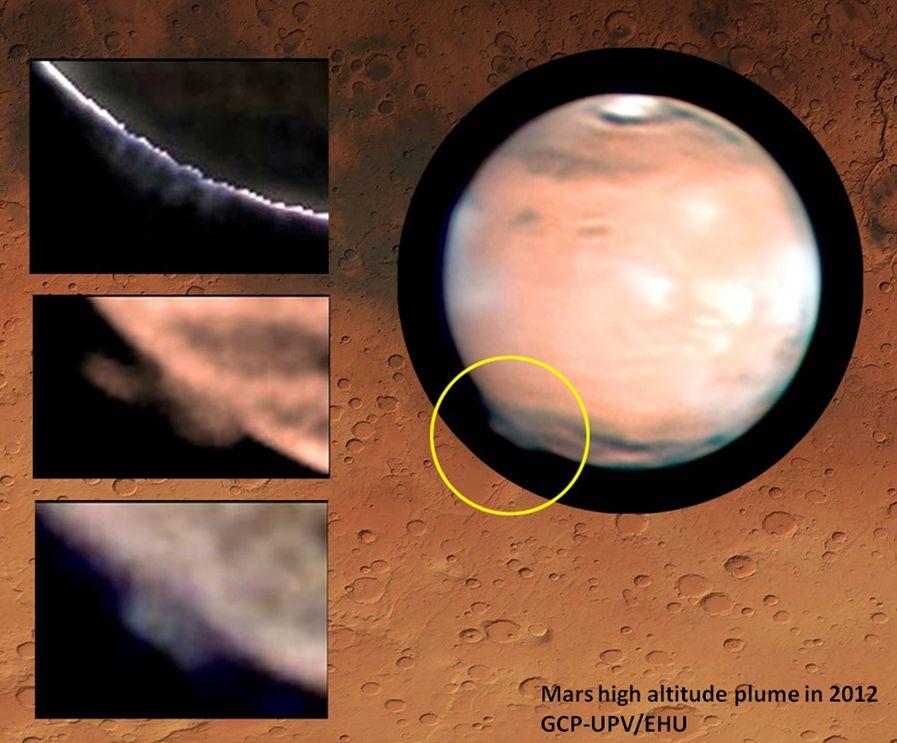 Mars'taki gizemli dev bulutlar