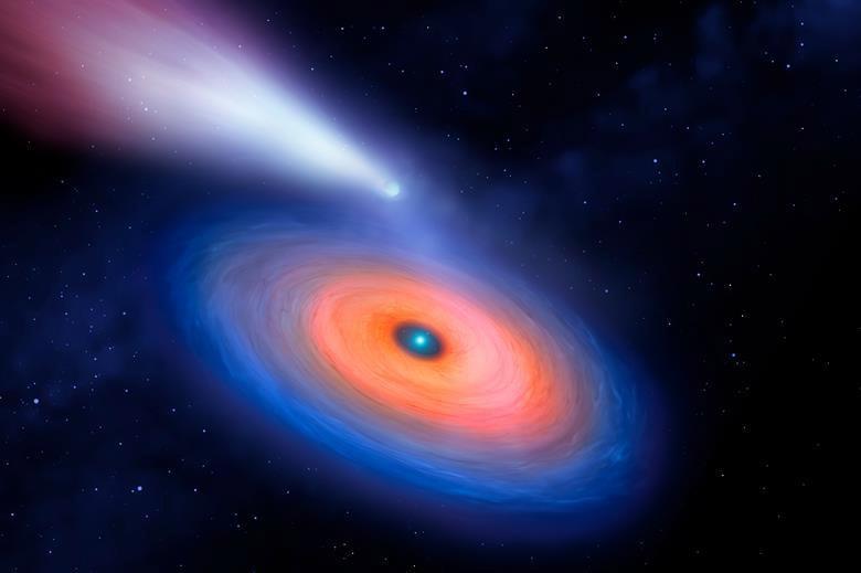Yok olmuş gezegenlerin metal bileşimi, onları tüketen ölü yıldızların etrafında bir kirlilik bulutu olarak korunuyor