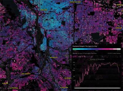 Harika haritalar ile binaların yaşını öğrenin