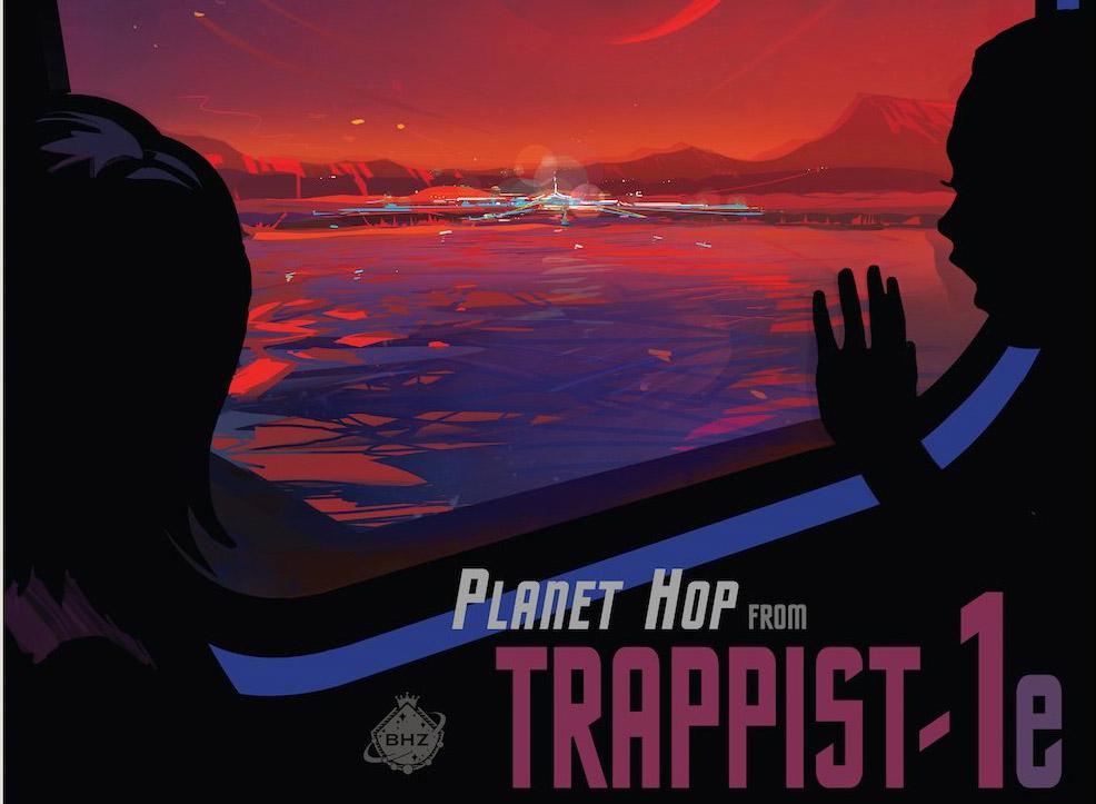 NASA yeni Güneş Sistemi TRAPPIST-1 için seyahat posterleri hazırladı