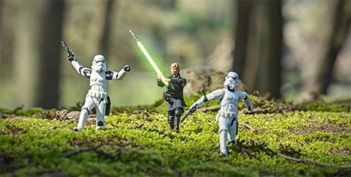 Stéphane Delval ve Star Wars figür fotoğrafçılığı