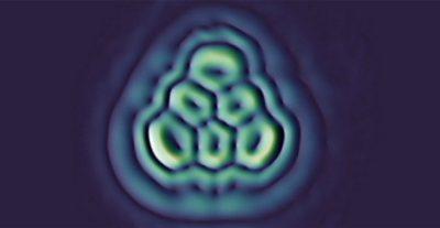 Araştırmacılar laboratuarda üçgen biçimli bir molekül yaptı